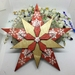 Hand made wooden star - red and white