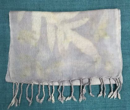 MERINO SCARF NATURALLY DYED WITH PLANTS