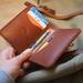 Minimalist Handmade Leather Card Wallet No.7 Taupo