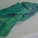 Blue hand Felted scarf