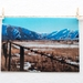 Barbed wire landscape     travel photography greeting cards