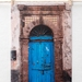 Moroccan Blue Door  | travel photography greeting cards