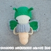 Crochet Puriri Moth stages toy