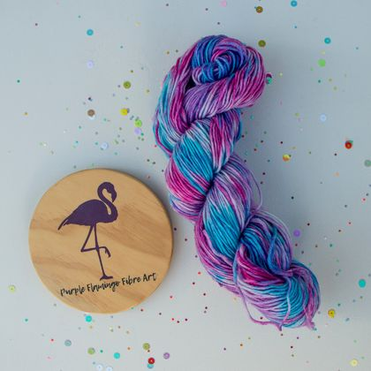 Hand dyed NZ Merino, 100G, Unicorn