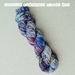 Hand dyed sock yarn, 100G, dark blue speckle with red splash