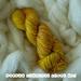 Sunflower sunshine, hand dyed NZ 8ply wool, 100G