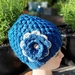 Crochet messy bun hats