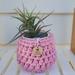 Upcycled pot plant cozie