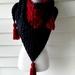 Hand crochet triangle scarf