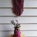 Wild berry macrame hanging with Mason jar