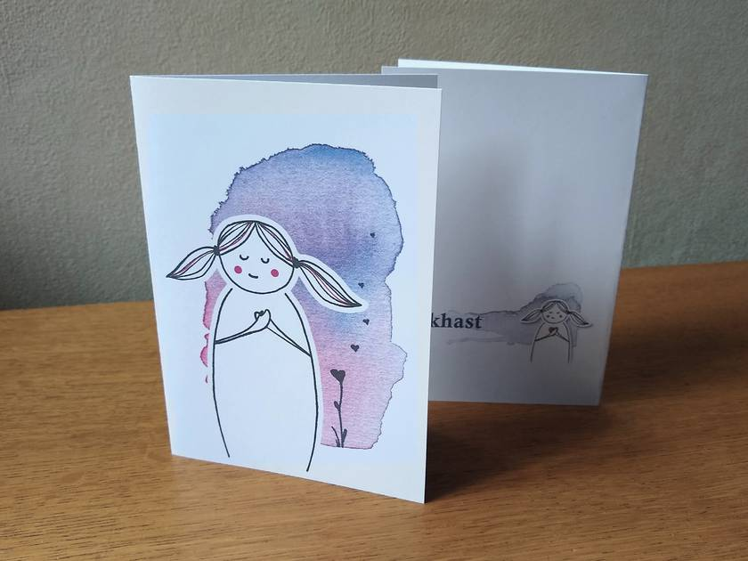 Heart-centred Greeting Card