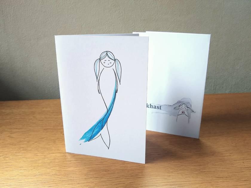 Mermaid Greeting Card - Blank Gift Card