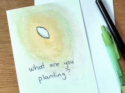 What are you planting? - Inspirational Gift Card