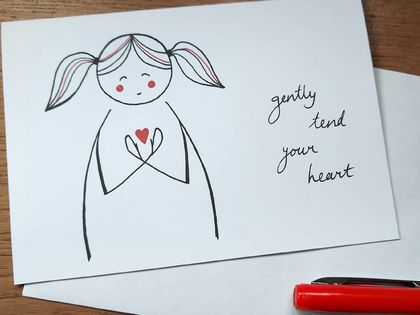 Tend Your Heart Greeting Card