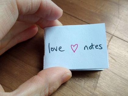 Love notes - tiny-zine