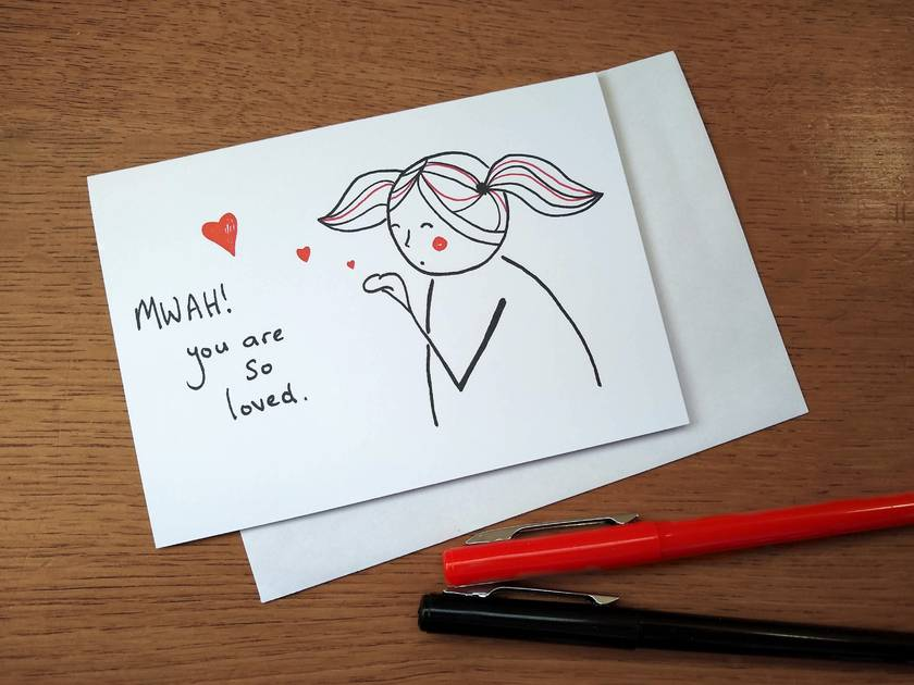 Mwah! Greeting Card - You are so loved