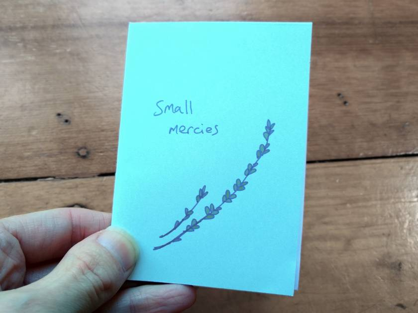 Small mercies - mini-zine