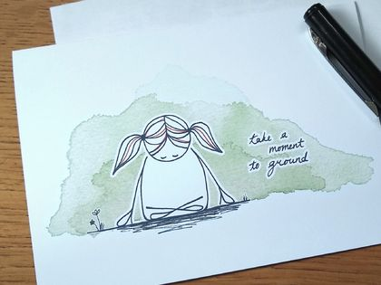 Take a Moment to Ground - Cute Greeting Card