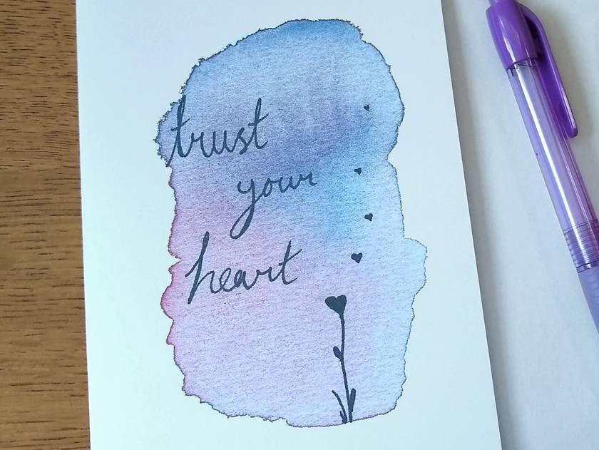 Trust Your Heart Card - Inspirational Greeting Card