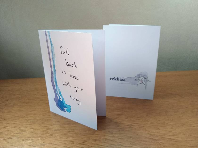 Fall back in love with your body - Inspirational Greeting Card