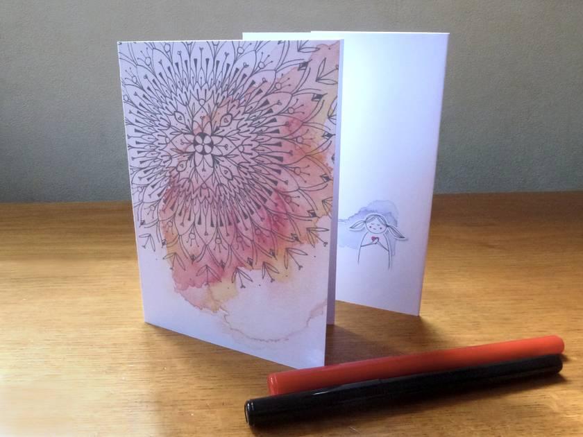 Mahuika Mandala - Blank Greeting Card