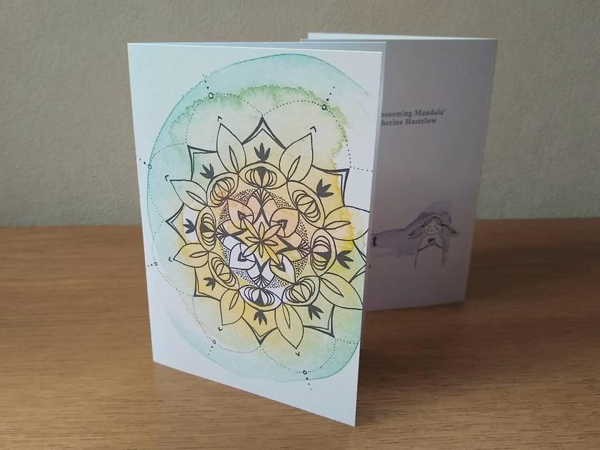 Sweet Blossoming Mandala - Blank Greeting Card