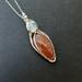 Sunstone and moonstone pendant