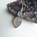Purple chalcedony and moonstone pendant