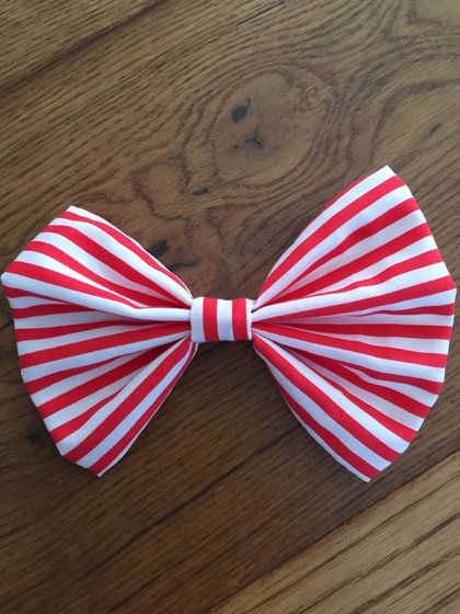 Large Striped Hair Bow