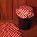 Jam Jar Covers -set of 5,ties incl.