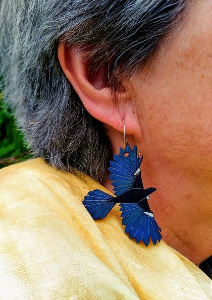 Hand-painted Tui Earrings