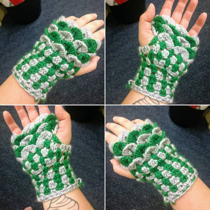 Dragonscale / Mermaid Gloves Hand Made - Harry Potter