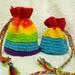 Custom Crochet Pride Dice Bag