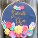 PERSONALISED NAME HAND EMBROIDERED HOOP WALL DECOR