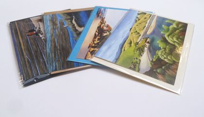 Gorgeous Sea Themed Greeting Cards x 4