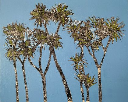 Cabbage Trees - original painting