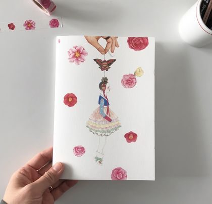 Camellia note book[Free shipping]