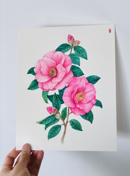 Original Botanical painting by watercolour