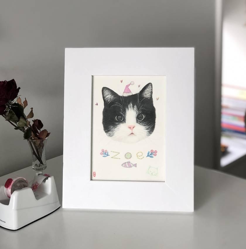 Custom Cat portrait/ Gift custom cat illustration/ cat lover/ made only for you