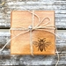 Set 4 Recycled Rimu 'Bee' Coasters