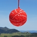Red and Pearl Ball Hanging Ornament