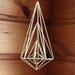 Geometric Brass Hanging Sculpture 001