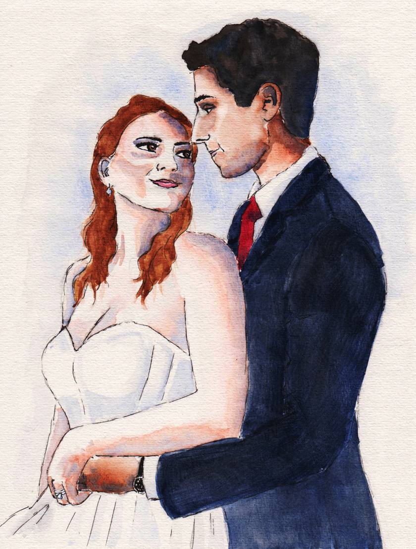 Wedding Portrait Painting Commission