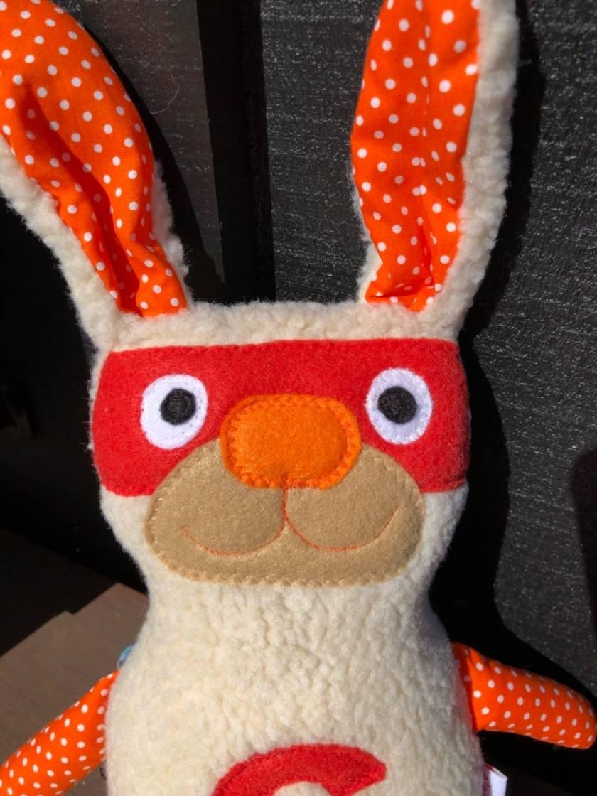 Super Rabbit - with glow in the dark cape