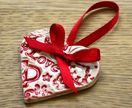 Red Heart Ceramic Christmas Decoration
