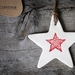 Ceramic Red Christmas Star Decoration Ornament