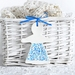 Ceramic Petals Paper Doll Blue