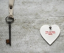 Home is Where You Hang this Heart Ceramic Ornament