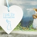I Love You to the Moon & Back Ceramic Blue Heart Decoration