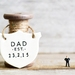Personalised Dad Est Ceramic Plaque / Banner